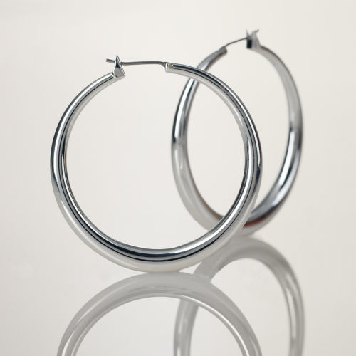 Ralph Lauren Large Silver Hoop Earrings
