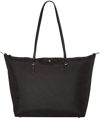 Lauren Ralph Lauren Merrimack Keaton 31 (Black Nylon) Tote Handbags