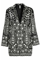 Topshop Embroidered Duster Jacket