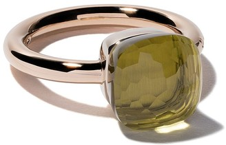 Pomellato 18kt rose & white gold medium Nudo lemon quartz ring