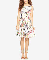 American Living Floral-Print Neoprene Dress