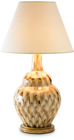 Bunny Williams Home Pheasant Feather Lamp - Brown/Cream