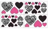 JoJo Designs Sweet Funky Zebra Wall Decals in Pink