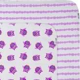Zoocchini Newborn Flannel Receiving Blanket-Set of 2-Owl Lavender