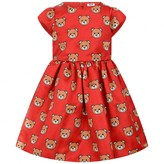 Moschino Girls Red Teddy Print Dress