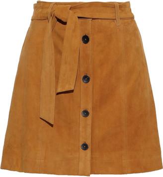 Joie Neida Belted Suede Mini Skirt