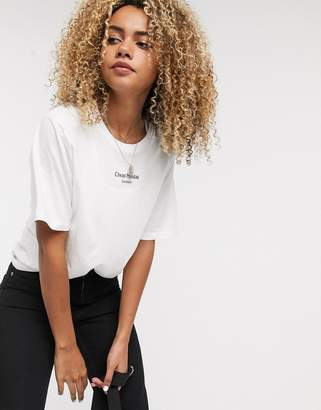 Cheap Monday Perfect t-shirt with text logo-White