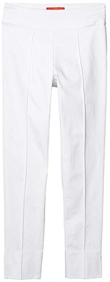 Krazy Larry Pull-On Seamed Skinny Ankle Pants (White) Women's Casual Pants