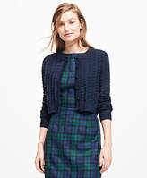 Brooks Brothers Textured Cropped Cardigan