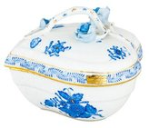Herend Chinese Bouquet Heart-Shaped Box