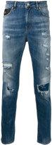 John Richmond 'Alvorada' ripped skinny jeans - men - Cotton/Spandex/Elastane - 50