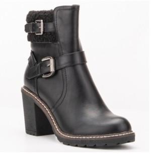 OLIVIA MILLER Women's Storm Chunky Heel Booties Women's Shoes