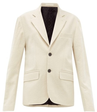 La Fetiche - Annie Single-breasted Cotton-blend Blazer - Womens - Cream