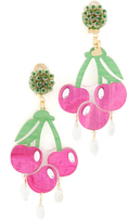 Mercedes Salazar Fiesta Cereza Clip On Earrings
