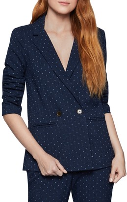 BCBGeneration Polka Dot Notch Collar Boyfriend Blazer