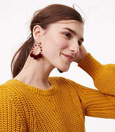 LOFT Beaded Pom Pom Earrings