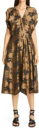 Zero Maria Cornejo Aki Wave Jacquard Midi Dress