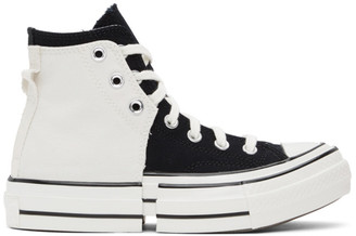 Converse Black and White 2-In-1 Chuck 70 High Sneakers