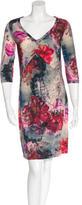 John Galliano Floral Print Shift Dress