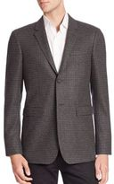 Burberry Plaid Italian Wool Blazer