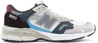 New Balance Made In Uk 920 Nubuck And Mesh Trainers - Grey Multi