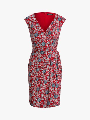 Ralph Lauren Ralph Saida Cap Sleeve Dress, Red/Multi