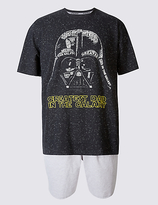 M&S Collection Star WarsTM Cotton Rich Pyjama Short Set