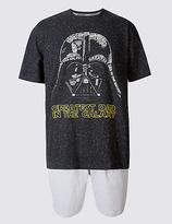 M&S Collection Star WarsTM Cotton Rich Pyjama Shorts Set