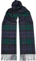 Johnstons of Elgin Black Watch Checked Cashmere Scarf - Green