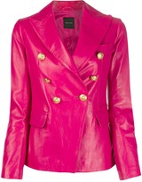 Tagliatore Lizzie embossed button blazer jacket