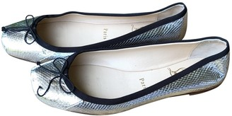 Christian Louboutin Silver Leather Ballet flats
