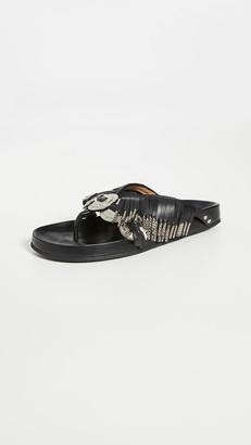 Toga Pulla Metal Embellished Fringe Sandals