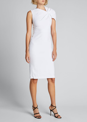 Alice + Olivia Kiro Ruffle-Shoulder Midi Dress