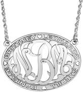 JCPenney FINE JEWELRY Personalized Sterling Silver Family Name and Monogram Necklace
