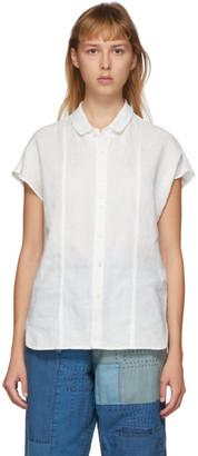 Blue Blue Japan White Linen French Sleeve Shirt