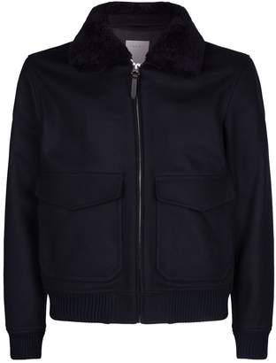 Sandro Shearling Collar Aviator Jacket