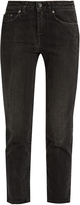 Acne Studios Row crease mid-rise cropped jeans