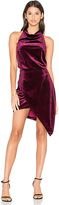 Elliatt x REVOLVE Velvet Camo Mini Dress in Burgundy. - size L (also in S,XS)