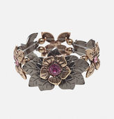 Avenue Two-Tone Flower Stretch Bracelet