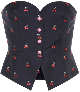 Gucci Fil coupe wool-blend bustier