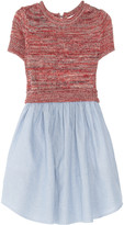 Carven Knitted cotton and denim dress