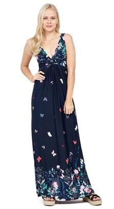 M&Co Izabel butterfly print maxi dress