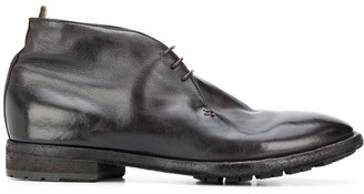Officine Creative Polished Lace-Up Boots