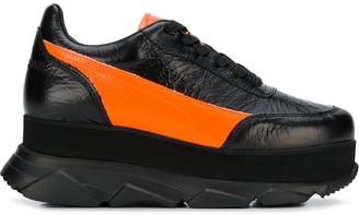 Joshua Sanders Weathered Platform Sneakers