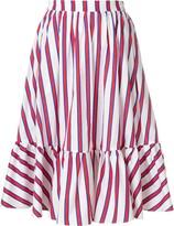 MSGM striped tiered skirt