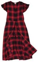 Love, Fire Girl's Plaid Maxi Shirtdress