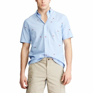 Chaps Men's Regular-Fit Short Sleeve Wrinkle Resistant Sportshirt (Spring/Summer)