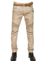 Balmain 17cm Stretch Denim Biker Jeans