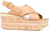 Chloé Camille wedge sandals - women - Calf Leather/Leather - 36.5