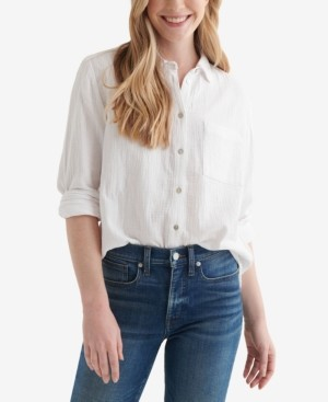 Lucky Brand Relaxed Textured Cotton Shirt